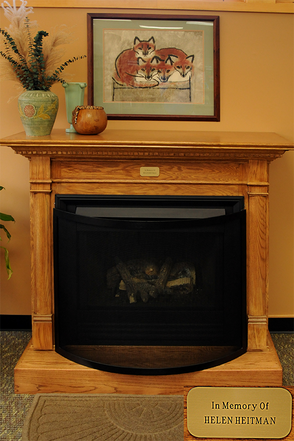 bellaire library fireplace