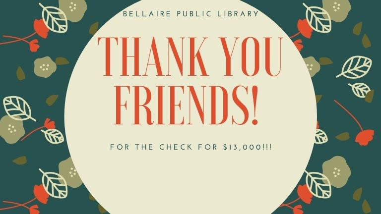 FOL Annual donation to the library!!